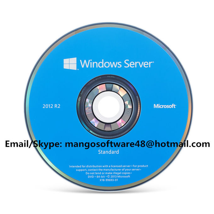 DVD standard R2 del server 2012 di Microsoft Windows del bit del pacchetto 64 dell'OEM con la chiave dell'OEM